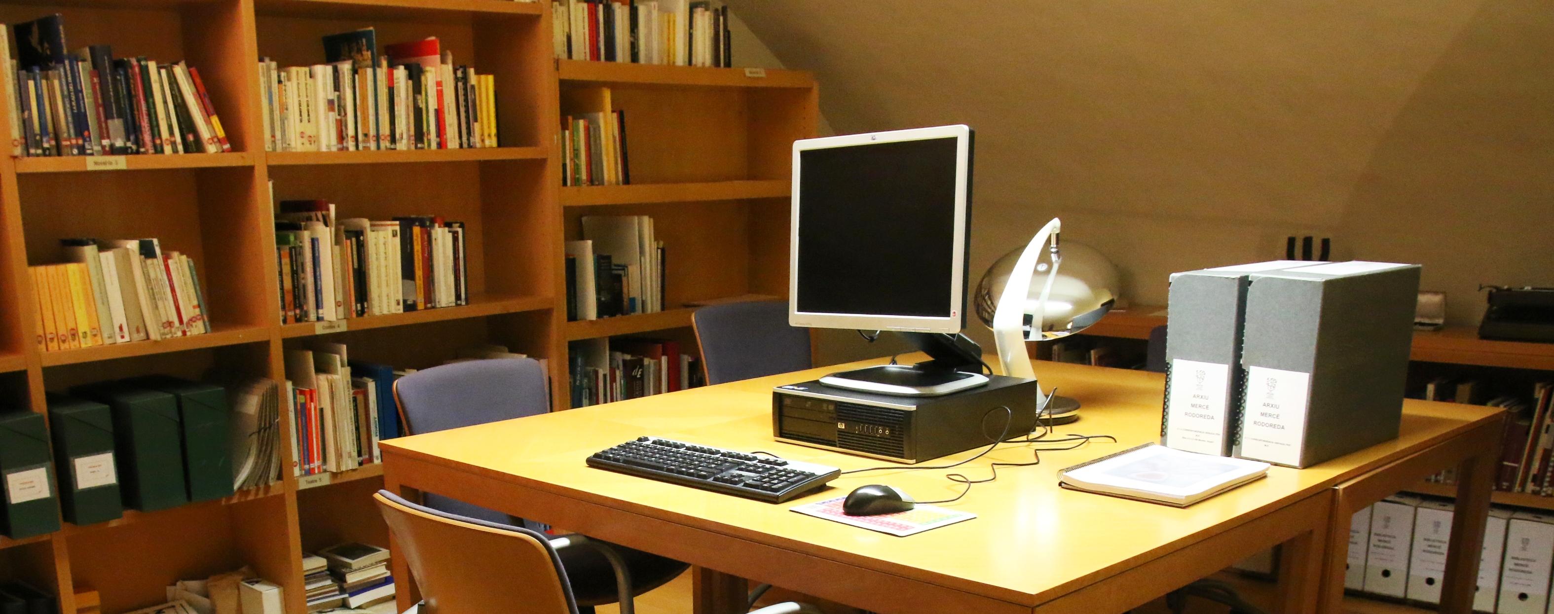 Arxiu IEC. Sala de consulta. Foto: Eulàlia Miret